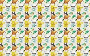 Picture texture, anime, art, Pikachu, pokemon