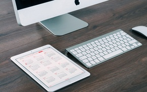 Picture apple, mac, keyboard, monitor, tablet, calendar, gadgets, 2015, calendar