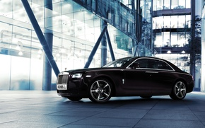 Picture Auto, Night, The city, Machine, Side view, Rolls Royce Ghost V-Specification