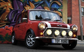 Wallpaper Mini Cooper, Machine, Graffiti, Lights, Auto, Wheel, Mini, Mini Cooper