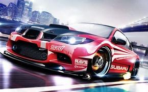Wallpaper Subaru, Impreza, WRX, Subaru, Impreza, Race car, STi