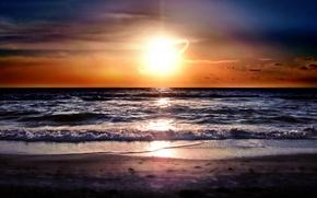 Wallpaper sea, the sun, sunrise