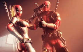 Picture Deadpool, Deadpool, mercenary, Marvel Comics, Wade Wilson, antihero, supervillain, Wanda Wilson, Lady Deadpool