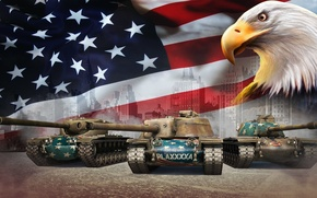 Picture USA, Tanks, World of Tanks, The eagles, T57 Heavy