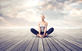 Picture girl, meditation, relax, yoga