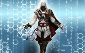 Picture assassin, swords, Ezio auditore, ac2