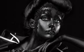 Picture black, makeup