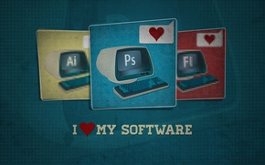 Picture photoshop, keyboard, monitor, photoshop, the program, i love my software, I love my, editor