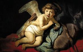 Picture picture, mythology, Rembrandt van Rijn, Cupid Blowing Soap Bubbles