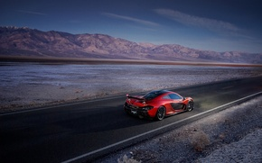 Picture McLaren, Orange, Death, Sand, Supercar, Valley, Hypercar, Exotic, Rear, Volcano