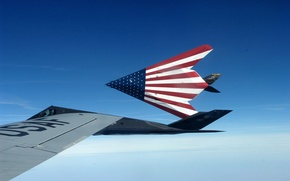 Picture Nighthawks, F-117, USA flag, stealth aircraft