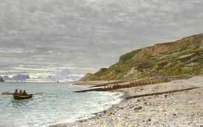 Picture landscape, picture, Claude Monet, The Point of Heve, Honfleur