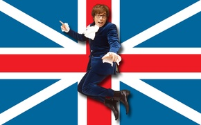 Picture Humor, Flag, UK, Austin Powers, Austin Powers