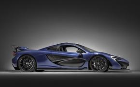 Picture car, blue, speed, luxury, gray, automobiles, Mclaren, Mclaren P1, technology, bold lines, beautiful design, side-view, …