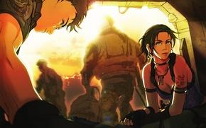 Wallpaper Africa, art, heat, scorching, Sheva, break, small, Chris, survivor horror, heroes, Resident Evil, the sun