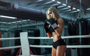 Picture training, female, boxing