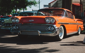 Picture retro, Chevrolet, classic, Bel Air, the front