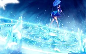Picture girl, pose, magic, umbrella, pentagram, art, kim hyung-tae, magna carta, dark angel crisis, clare setilan