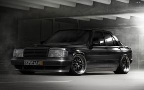 Picture black, black, Mercedes, benz, merc, stance, mb