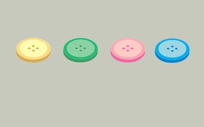 Picture paint, rainbow, buttons