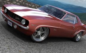 Picture graphics, Chevrolet, art, 1969, Camaro, custom, dangeruss