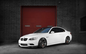 Picture white, BMW, BMW, white, brick wall