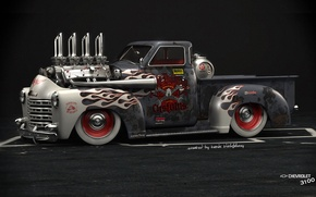 Picture Car, American Muscle, Hod Rod, Chevrolet 3100