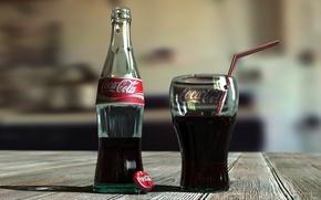 Wallpaper bottle, Coca-Cola, coca-cola, glass, Cola, lemonade