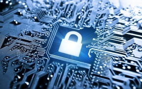 Picture blue, chip, color, fee, track, processor, hi-tech, wallpaper., technology, processor, cyberspace, microchip, lock up, under ...