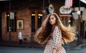 Picture girl, the city, street, Jesse Duke, Bourbon Street
