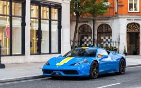Picture Ferrari, 458, Blue, Speciale