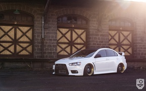 Picture mitsubishi, lancer, evolution, Wheels, Before, Garde
