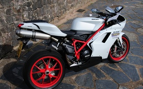 Picture stones, tile, view, motorcycle, Ducati, Ducati, 848