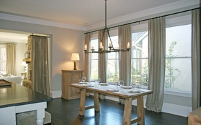Picture design, house, style, interior, cottage, dining room, living room