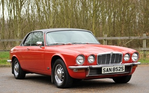 Picture Jaguar, Red, 1978, Coupe, Classic cars, XJ6C, Series II