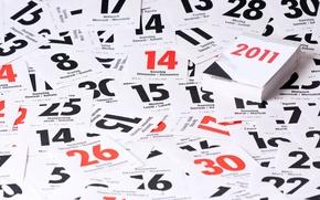 Wallpaper new year, holiday, calendar, sheets, days, 2011