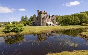 Picture summer, river, castle, Scotland