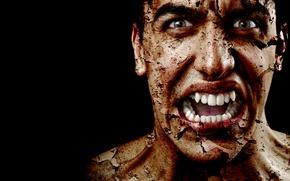Picture face, Male, grimace, horror, fear