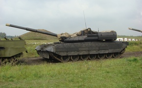 Picture polygon, Tanks, fighting, Russian weapons