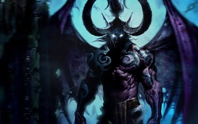 Wallpaper the demon, wow, world of warcraft, Illidan, illidan