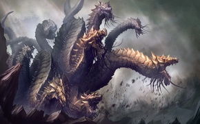 Picture fiction, monster, art, Hydra