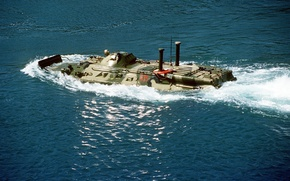 Picture BTR-80, b/m - 635, Russian swimming
