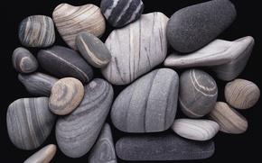 Picture Stone, black and white, pebble