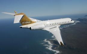 Picture The sky, Horizon, Flight, Earth, Height, The plane, Passenger, Jet, 5000, Bombardier, Global