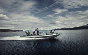 Picture water, Norway, boat, military, The Nords