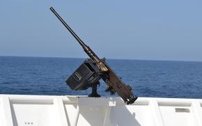 Wallpaper sea, machine gun, Browning, easel, Board, M2HB