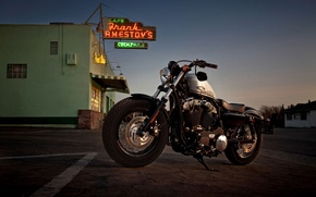 Picture view, motorcycle, serious, tires, saddle, model, suspension, name, Harley-Davidson, tank, form, has, fit, due, part, …