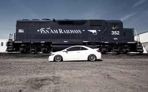 Picture coupe, train, honda, Honda, civic, coupe, train, civic