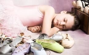 Wallpaper children, childhood, children, sleeping beauty, sleeping beauty, Ballet shoes, Ballet little girl, ballet little girl, ...