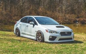 Picture turbo, white, wheels, subaru, japan, wrx, impreza, jdm, tuning, power, sti, low, stance, dropped